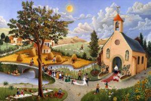 Raphaël Toussaint - Peintre de la Vendée 27-Noces-Villageoises-Griffon-1968-2-300x201