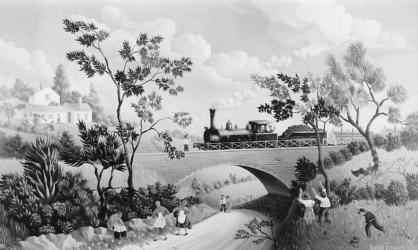 (151)- Le petit Pont de chemin de fer-1973- hsb 27x46 cm.