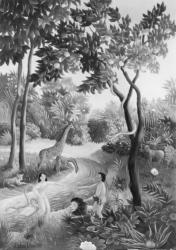 (159)- Le Jardin enchanté-1973- hsb 35x24 cm.