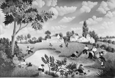 (164)- Les Coupeurs de blé-1973-hsb 16x24 cm.