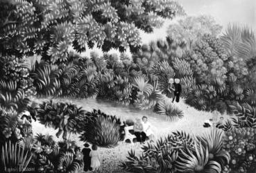 (175)- Le Jardin public-1973- hsb 19x27.