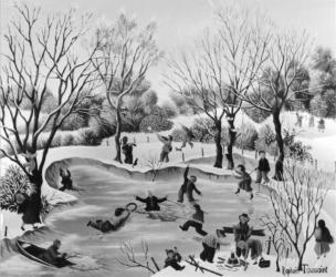 (182)- Sur la glace-1974-hsb 19x24.