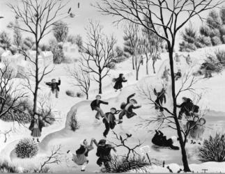 (183)- Plaisir de la glace-1974-hsb 19x24.