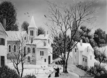 (185)- Le Peintre en hiver-1974-hsb 19x27.
