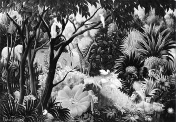 (189)- Le Calme dans la forêt-1974-hsb 24x35.