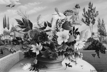 (194)- La Corbeille de fleurs-1974-hsb 24x35.