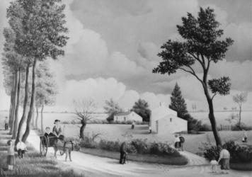 (205)- La Promenade en charrette-1974-hsb 19x27.